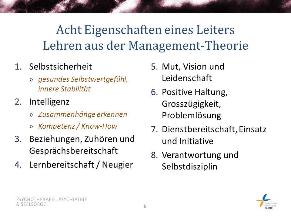Acht Eigenschaften eines Leiters Lehren aus der Management-Theorie