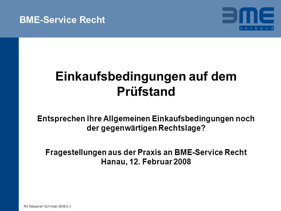 BME-Service Recht
