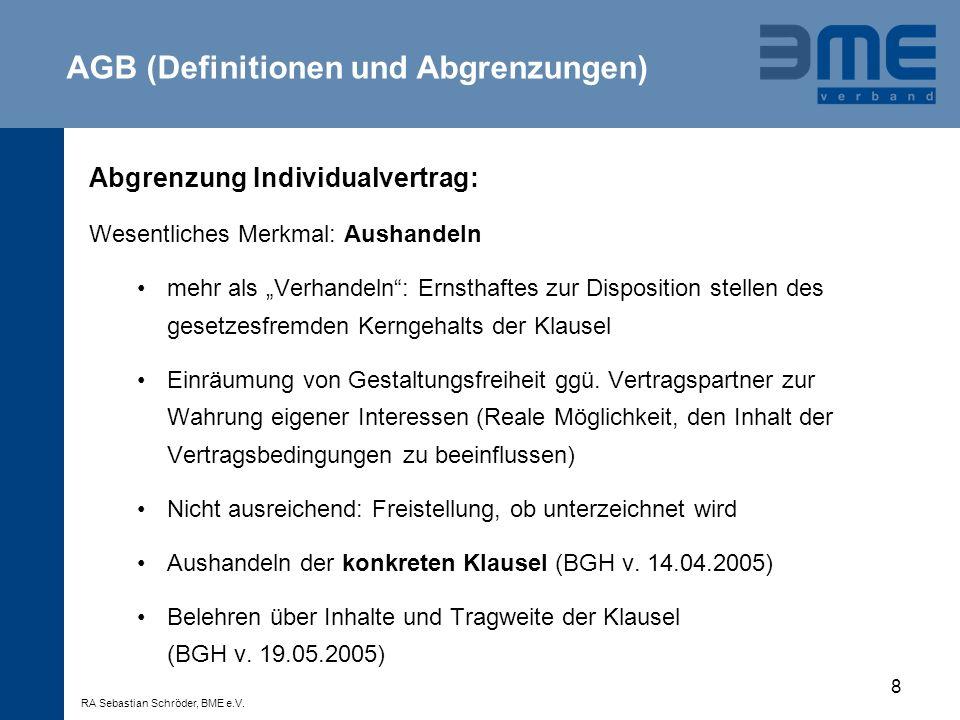 AGB (Definitionen und Abgrenzungen)