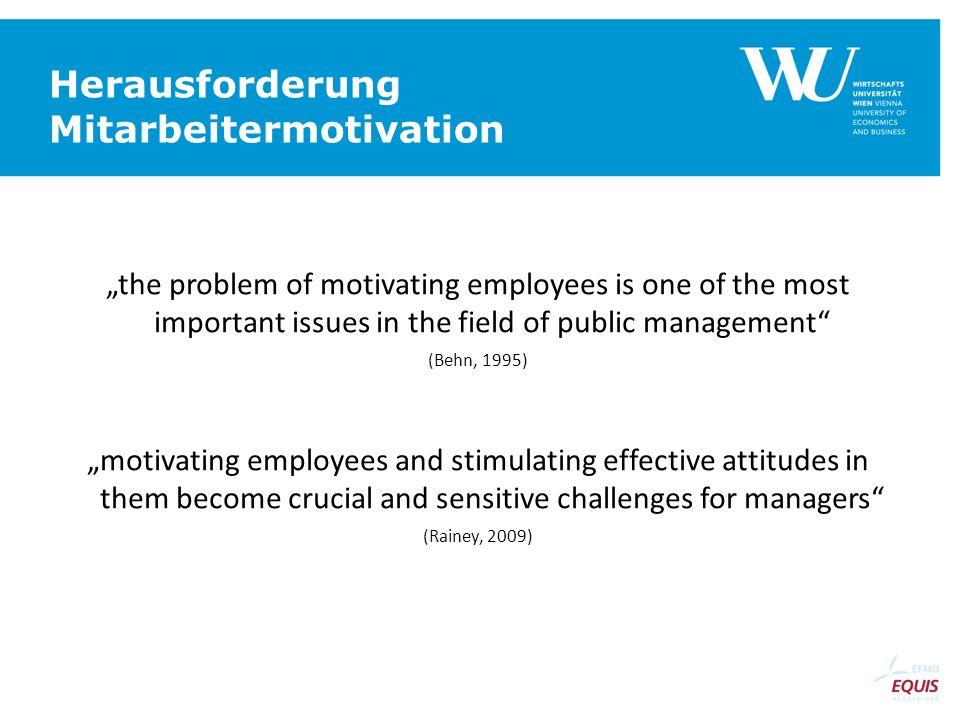 Herausforderung Mitarbeitermotivation