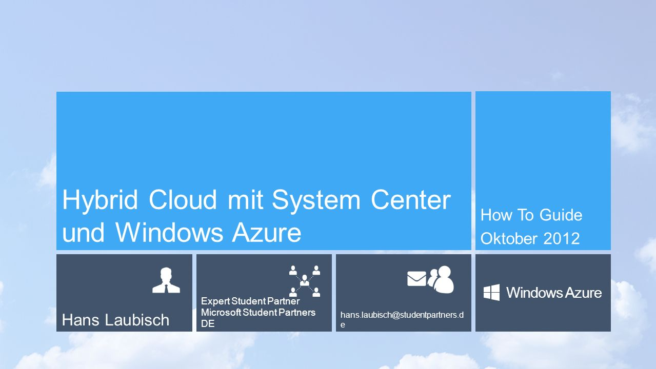 Hybrid Cloud mit System Center und Windows Azure
