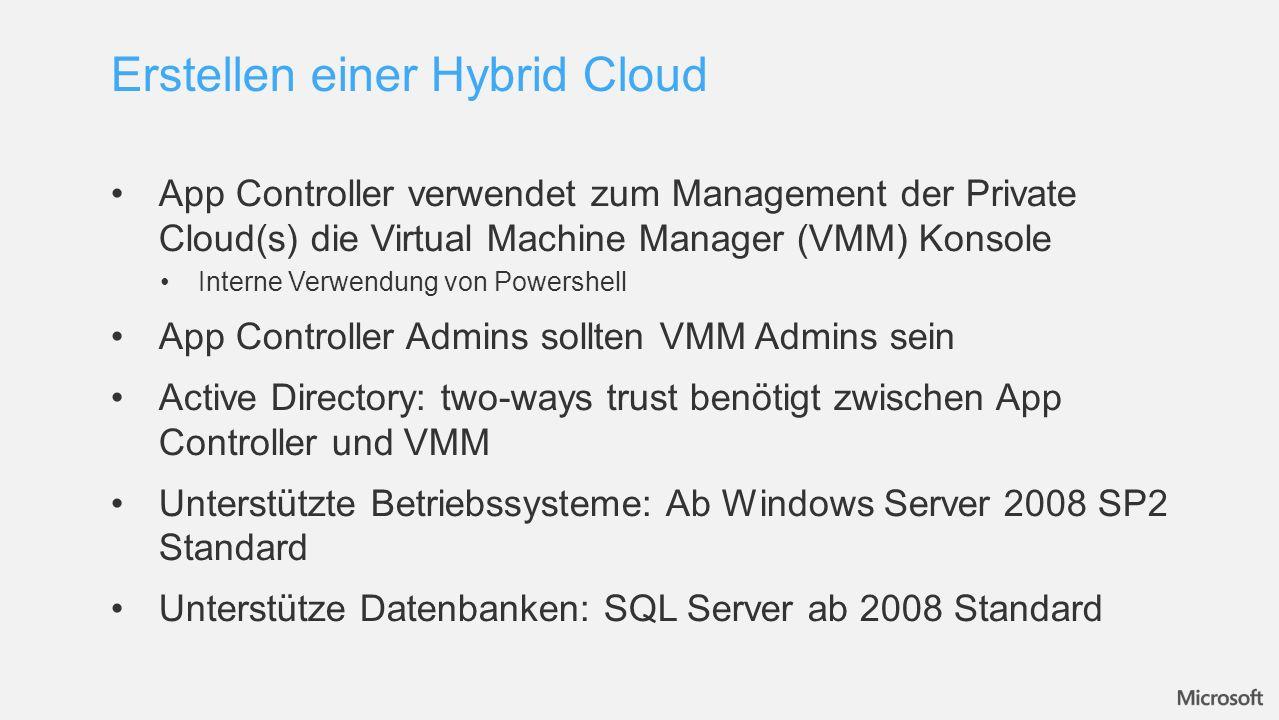 Erstellen einer Hybrid Cloud