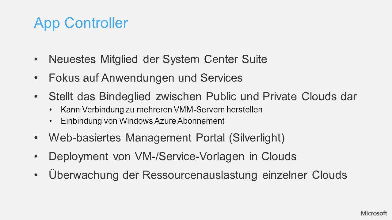 App Controller Neuestes Mitglied der System Center Suite