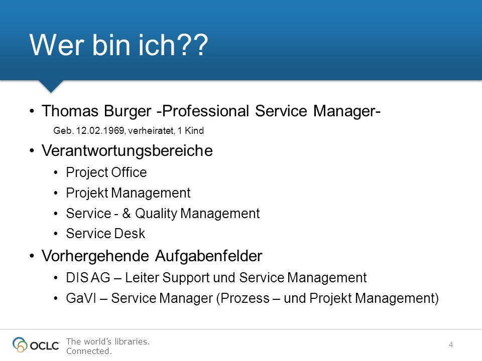 Wer bin ich Thomas Burger -Professional Service Manager-
