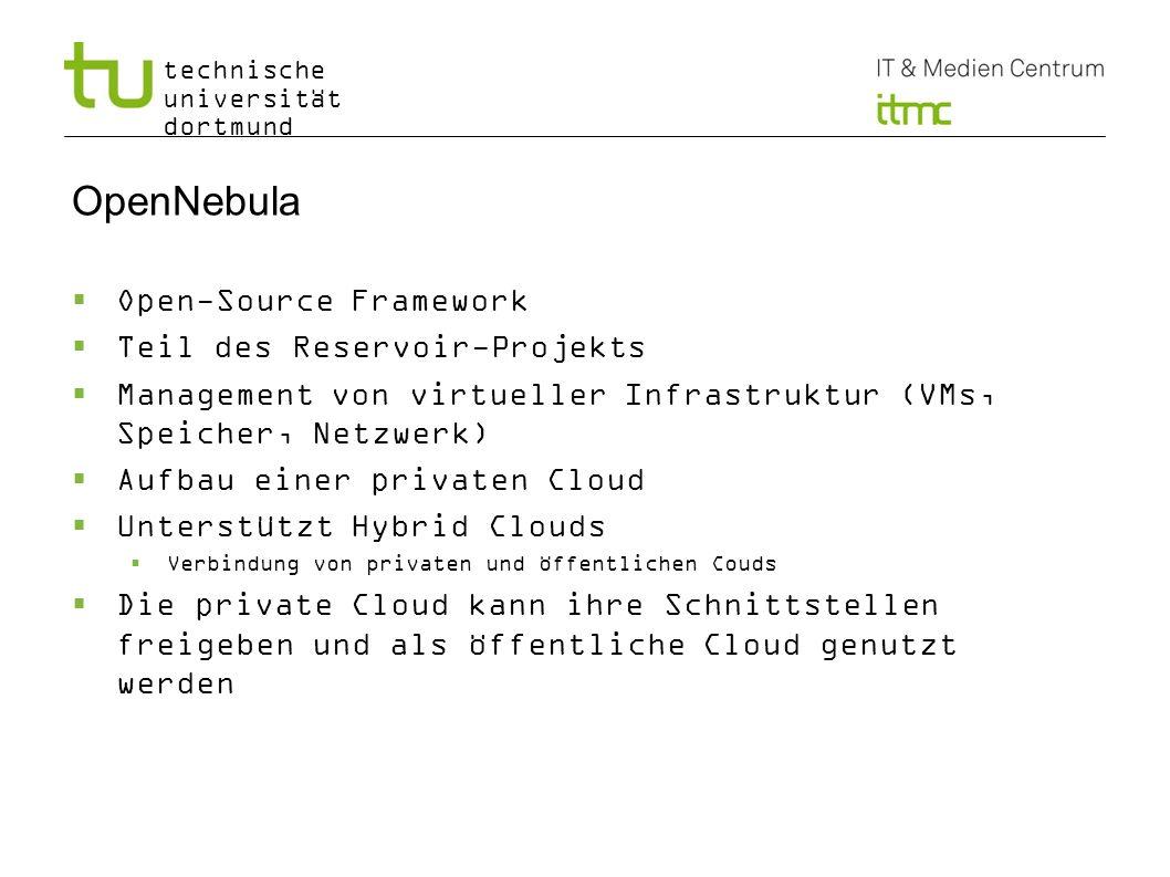 OpenNebula Open-Source Framework Teil des Reservoir-Projekts