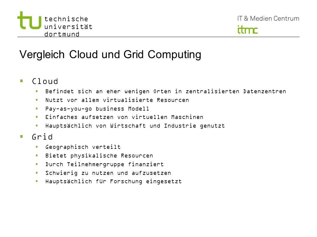 Vergleich Cloud und Grid Computing