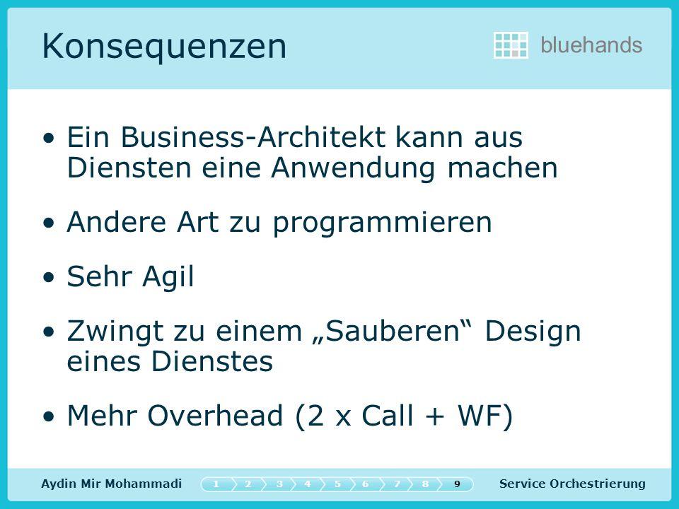 Konsequenzen Ein Business-Architekt kann aus Diensten eine Anwendung machen. Andere Art zu programmieren.