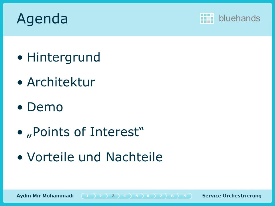 "Agenda Hintergrund Architektur Demo ""Points of Interest"