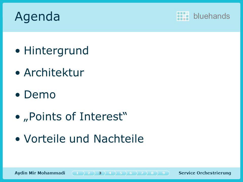 """Agenda Hintergrund Architektur Demo """"Points of Interest"""