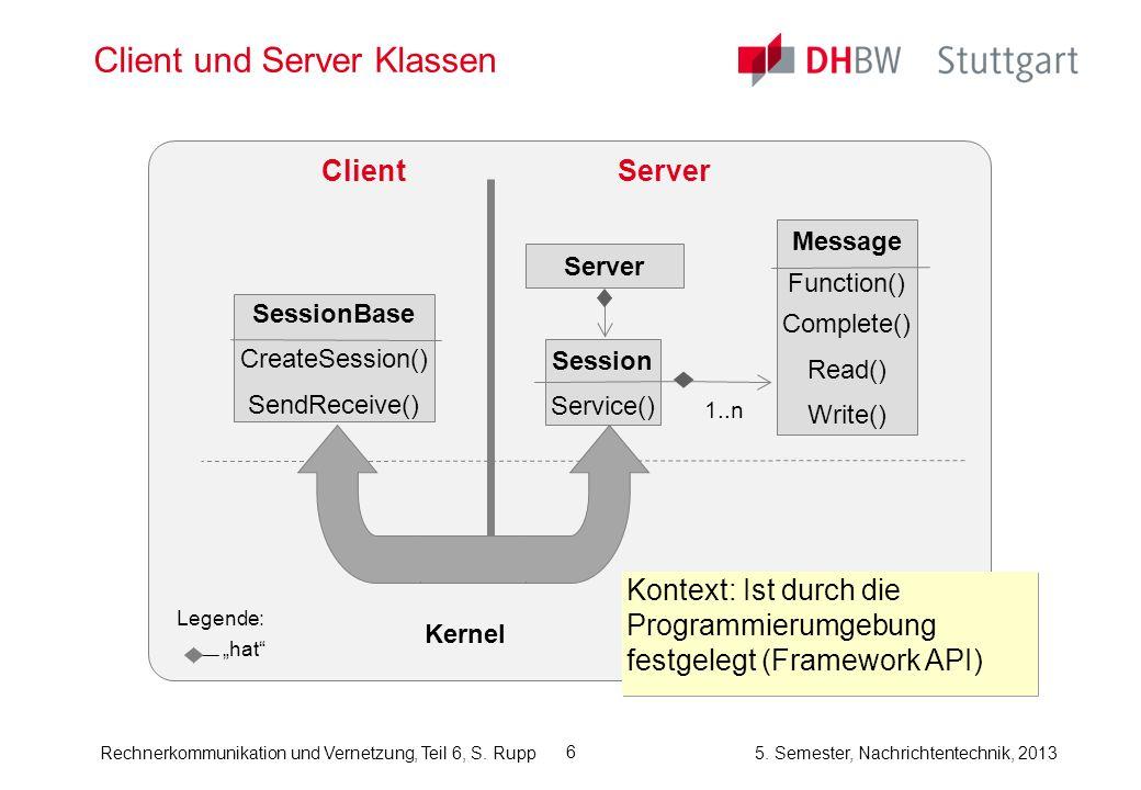 Client und Server Klassen