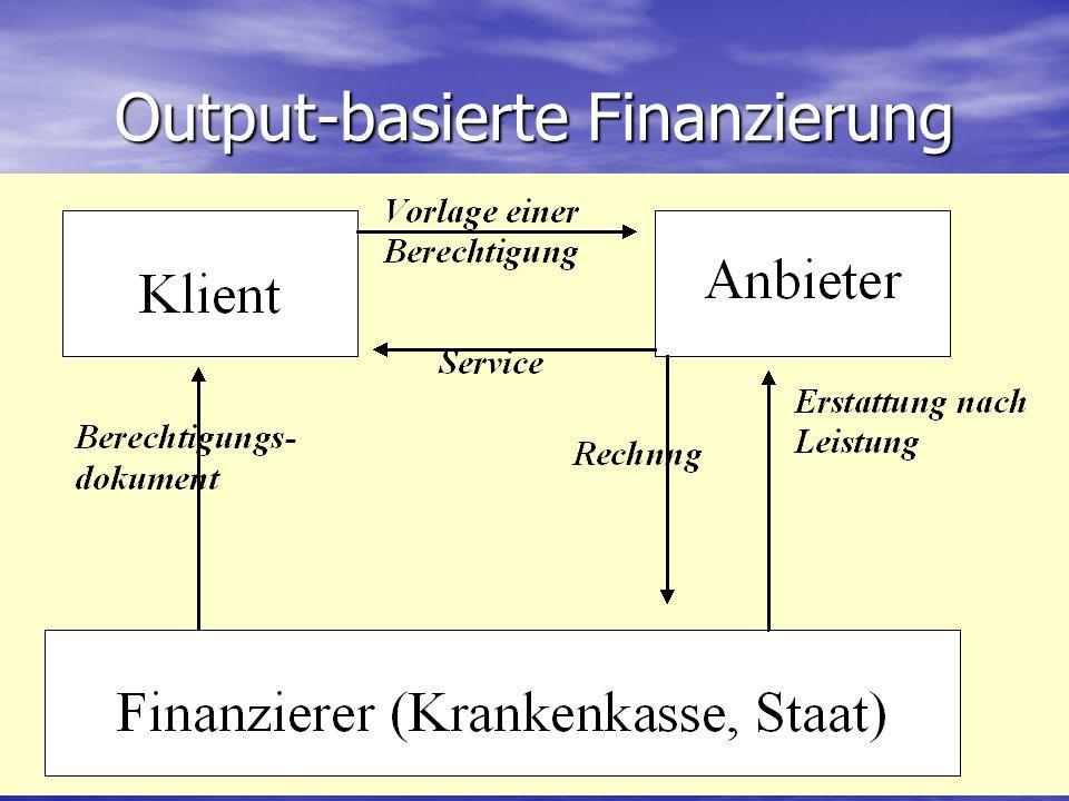 Output-basierte Finanzierung