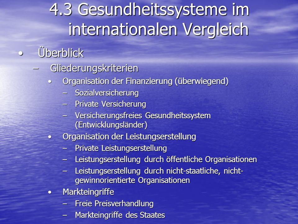 4.3 Gesundheitssysteme im internationalen Vergleich