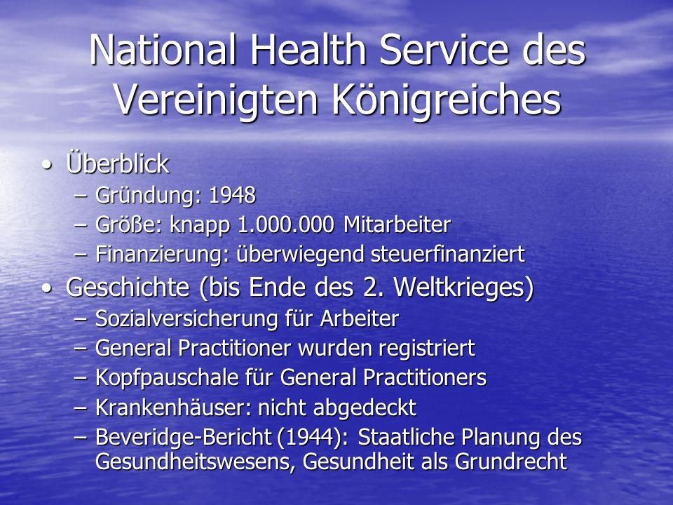 National Health Service des Vereinigten Königreiches