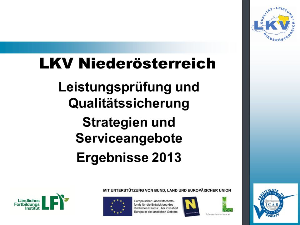 Leistungsprüfung und Qualitätssicherung Strategien und Serviceangebote
