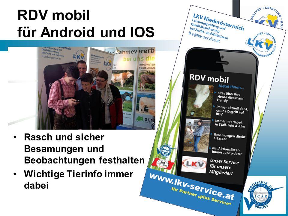 RDV mobil für Android und IOS