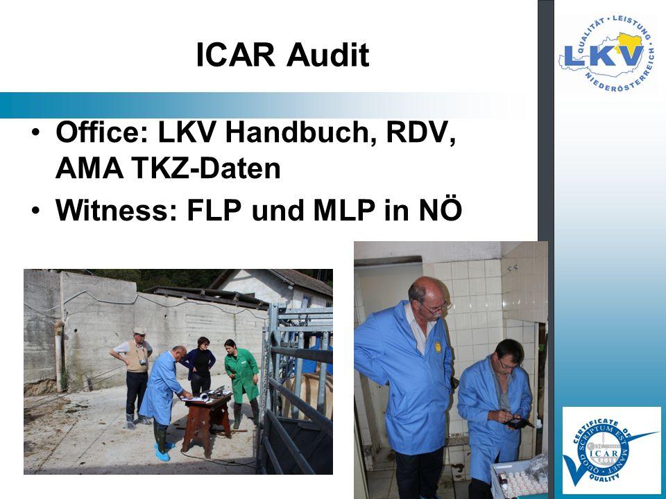 ICAR Audit Office: LKV Handbuch, RDV, AMA TKZ-Daten