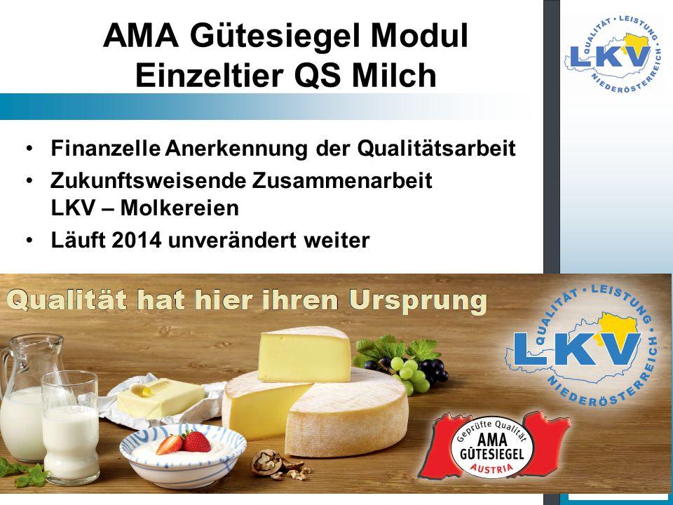 AMA Gütesiegel Modul Einzeltier QS Milch