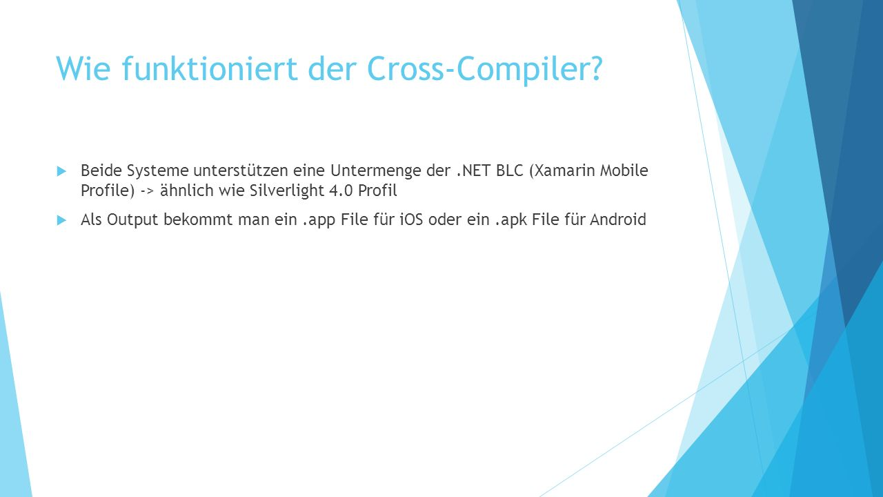 Wie funktioniert der Cross-Compiler