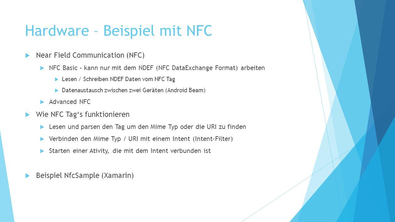Hardware – Beispiel mit NFC
