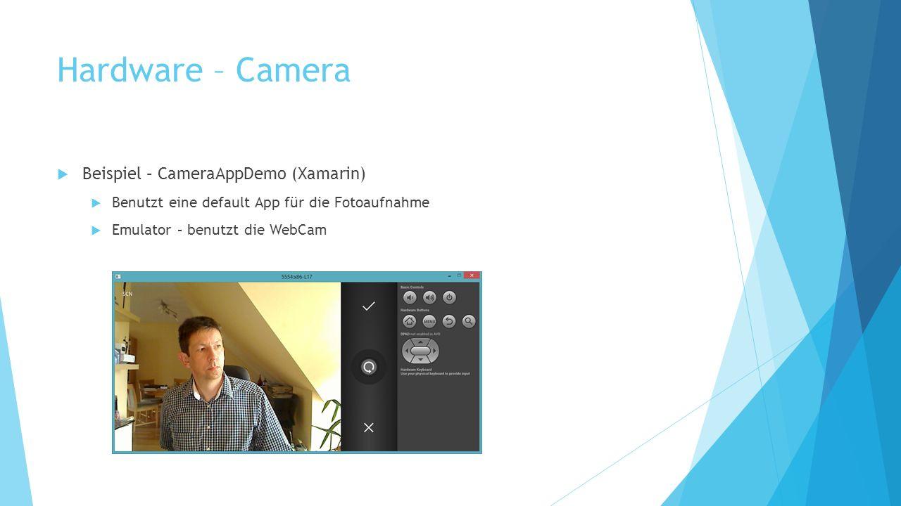 Hardware – Camera Beispiel – CameraAppDemo (Xamarin)