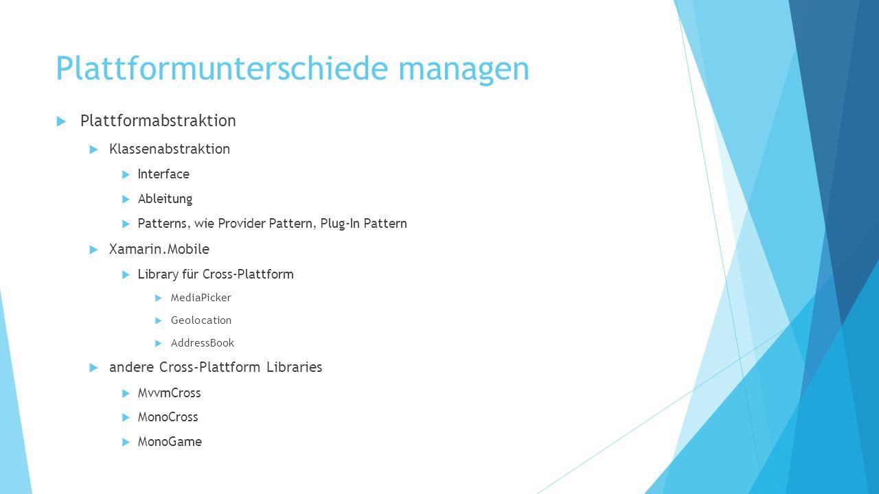 Plattformunterschiede managen