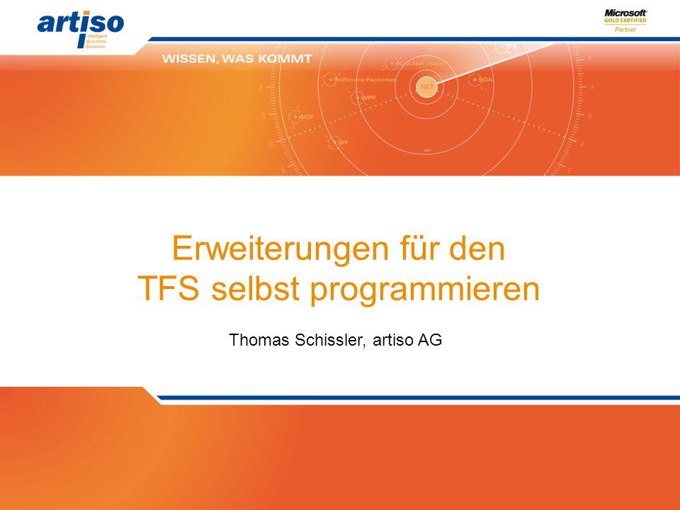 Erweiterungen für den TFS selbst programmieren