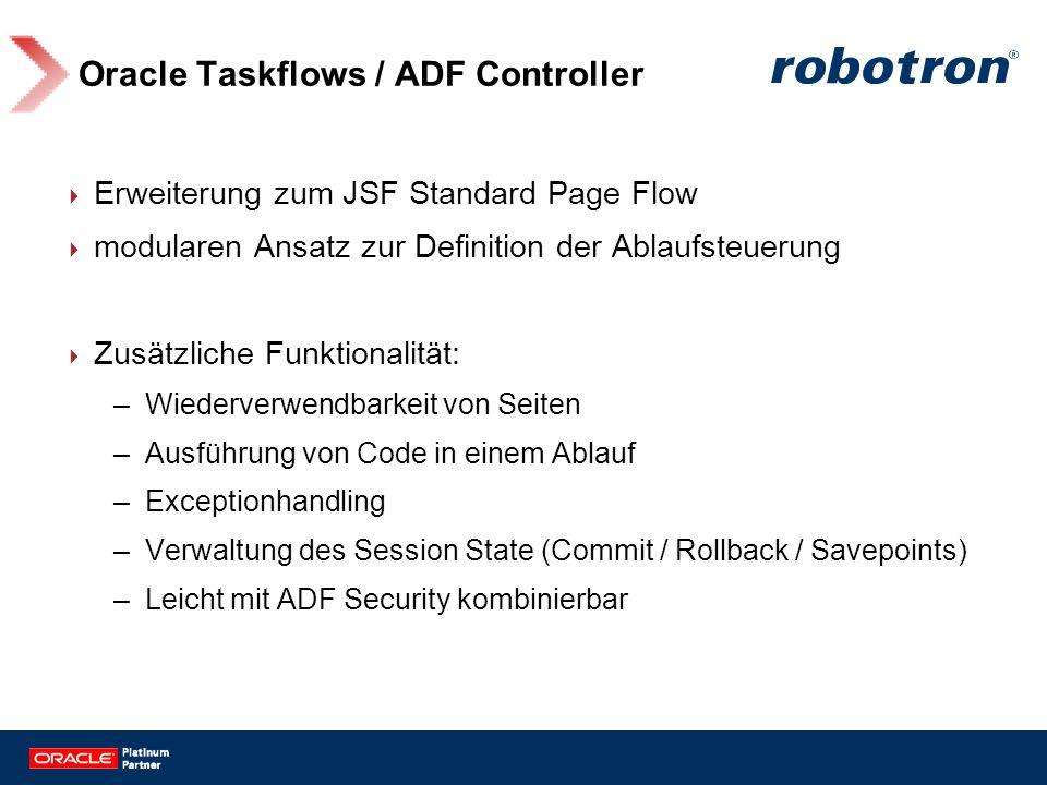 Oracle Taskflows / ADF Controller
