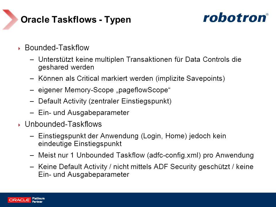Oracle Taskflows - Typen