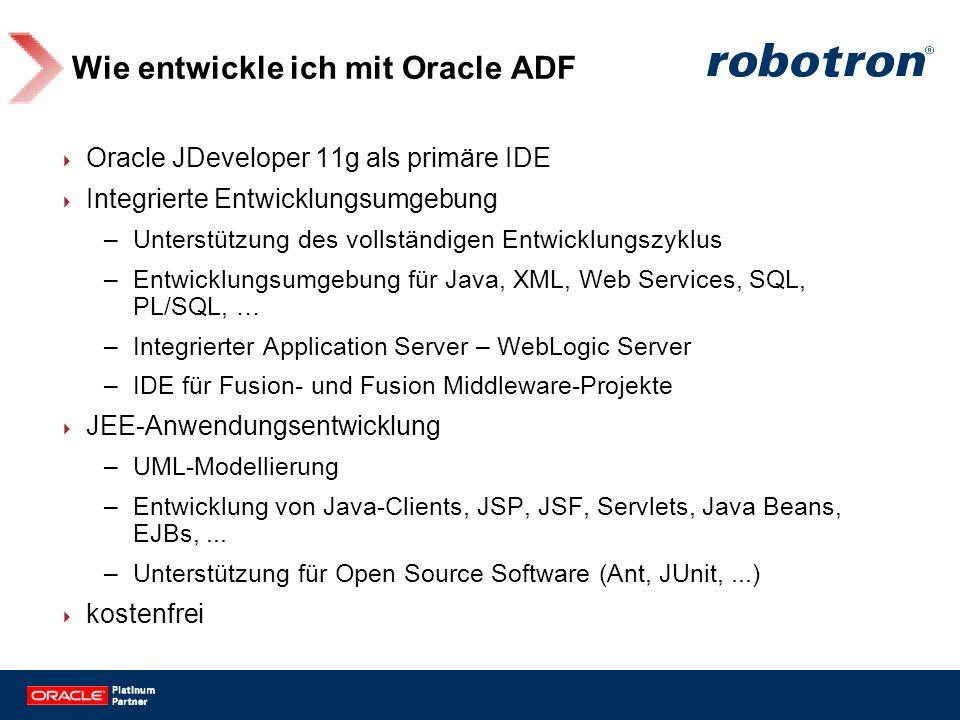Wie entwickle ich mit Oracle ADF