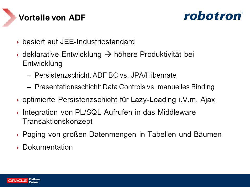 Vorteile von ADF basiert auf JEE-Industriestandard