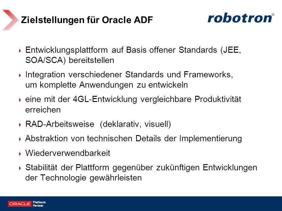Zielstellungen für Oracle ADF