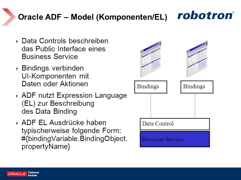 Oracle ADF – Model (Komponenten/EL)