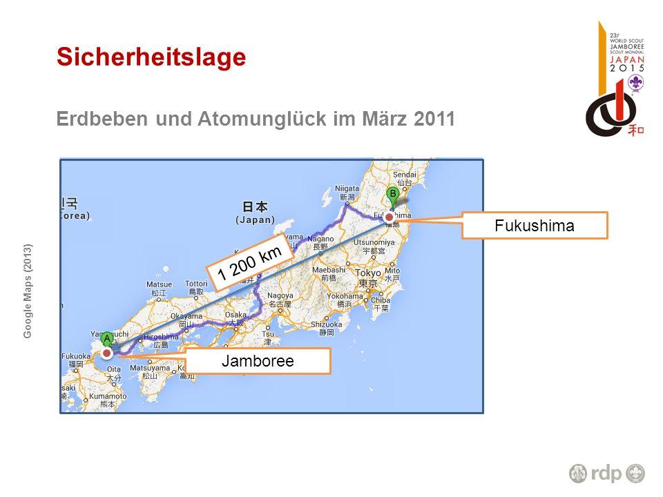 Sicherheitslage Erdbeben und Atomunglück im März 2011 Fukushima