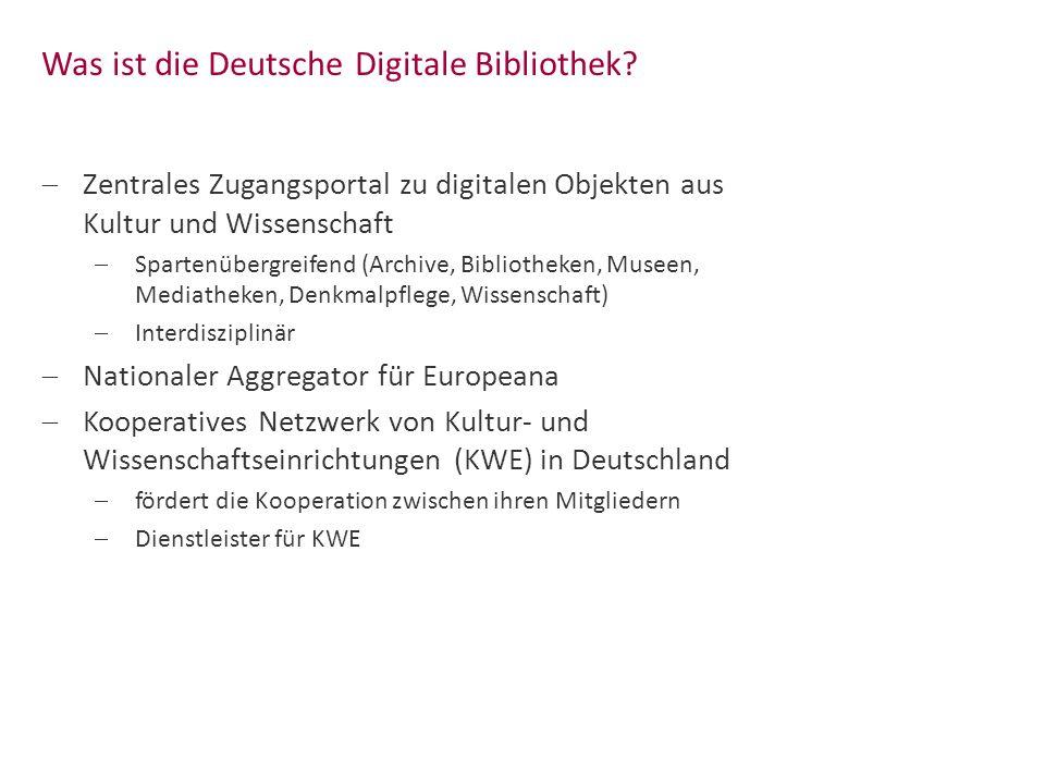 Was ist die Deutsche Digitale Bibliothek