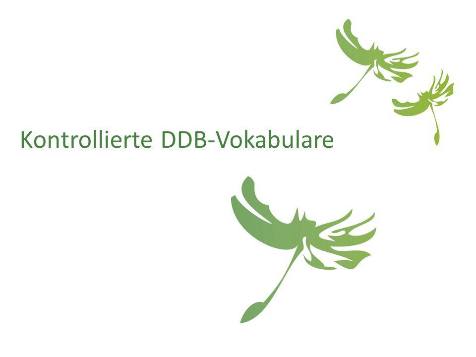 Kontrollierte DDB-Vokabulare