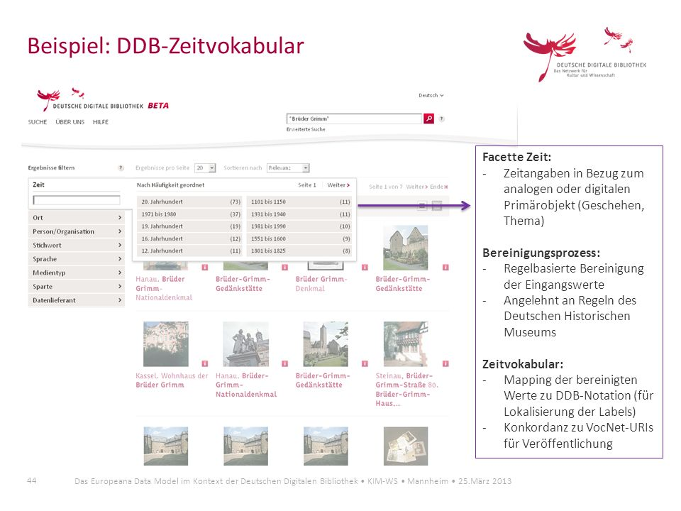 Beispiel: DDB-Zeitvokabular