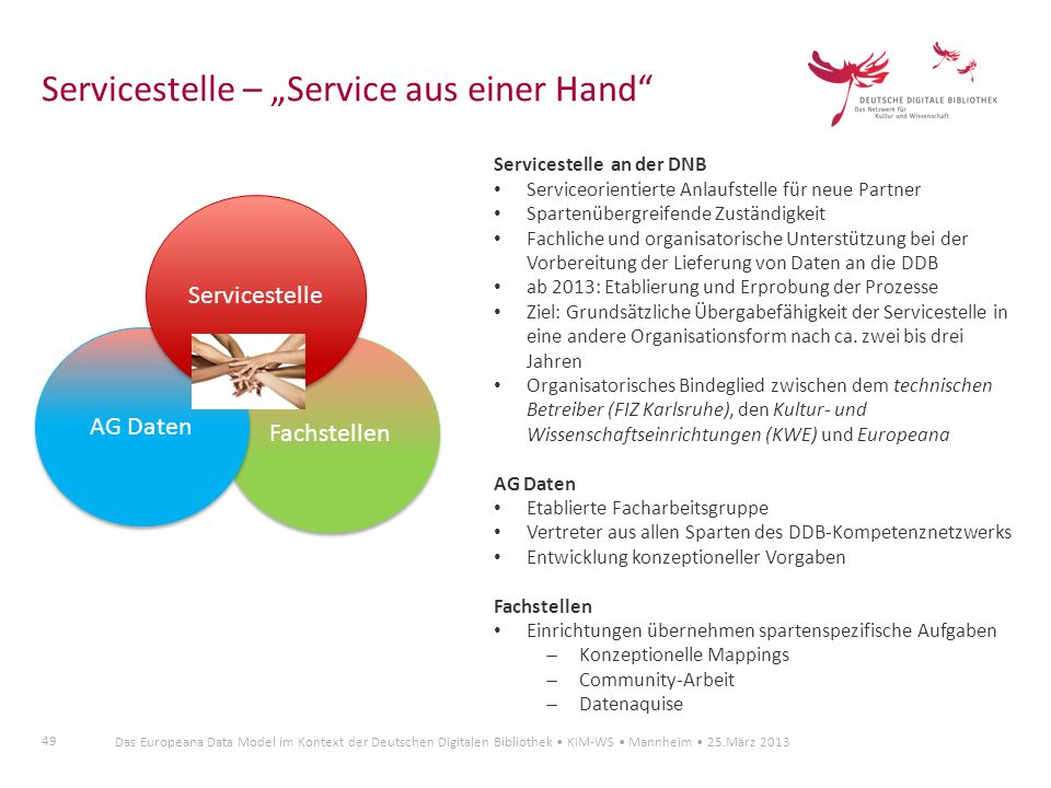 """Servicestelle – """"Service aus einer Hand"""
