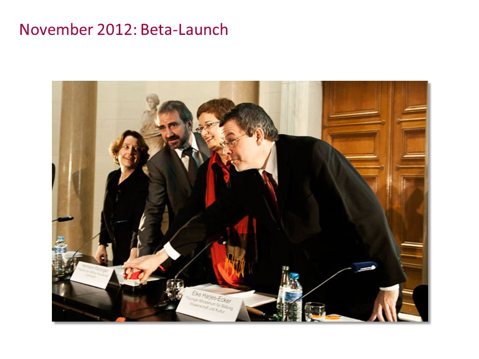November 2012: Beta-Launch
