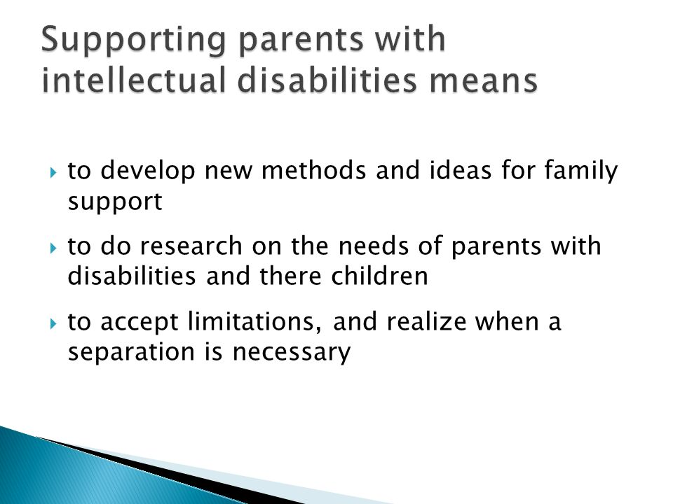 Supporting parents with intellectual disabilities means