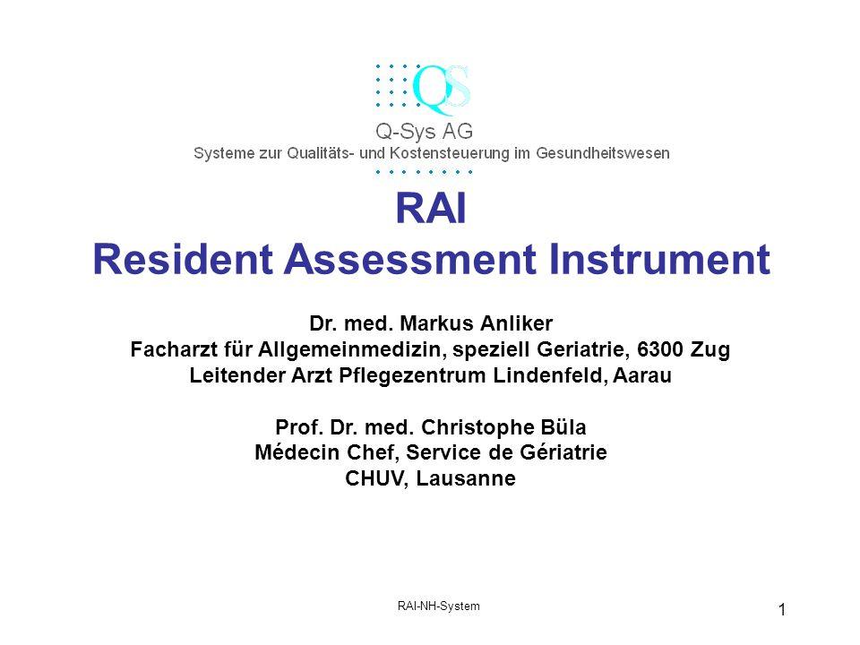 RAI Resident Assessment Instrument
