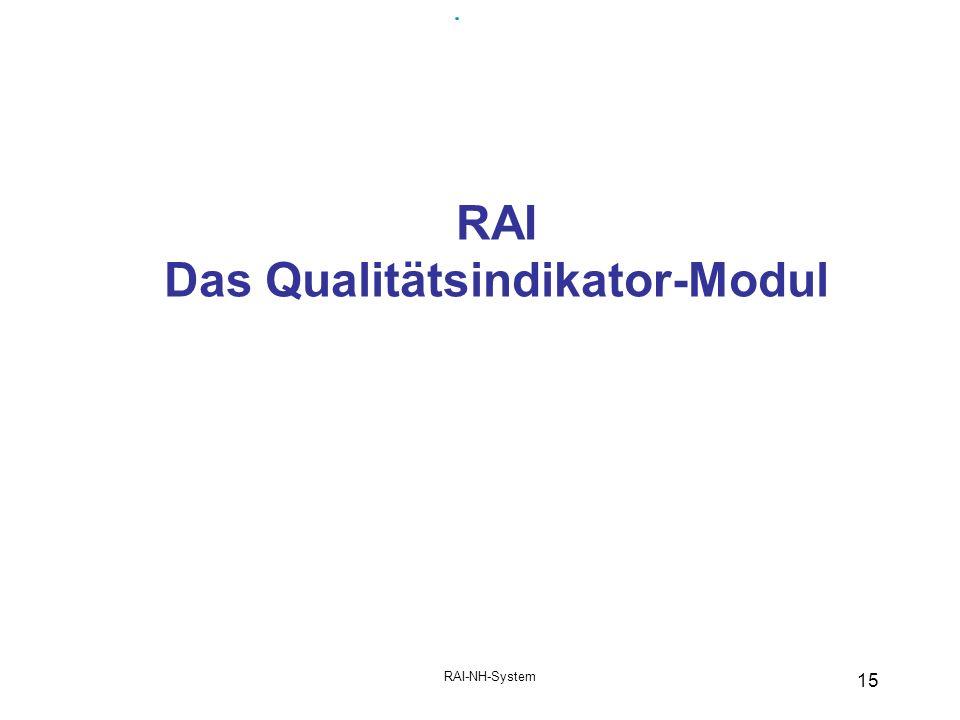 RAI Das Qualitätsindikator-Modul