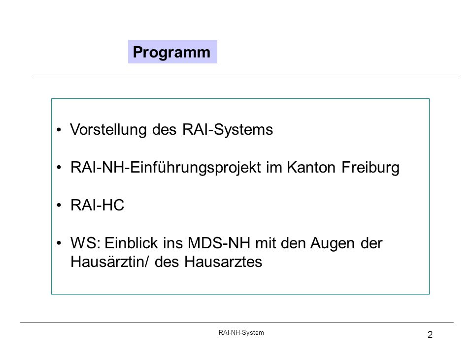 Vorstellung des RAI-Systems
