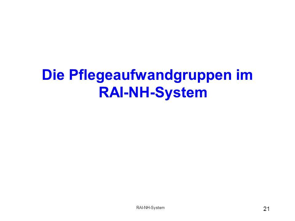 Die Pflegeaufwandgruppen im RAI-NH-System