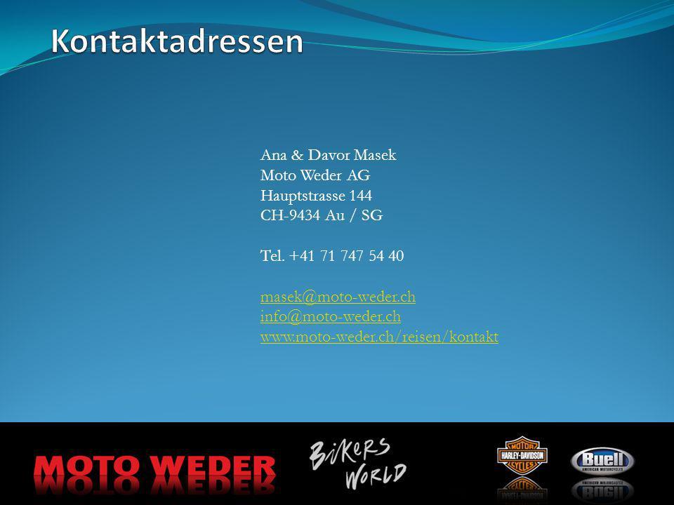 Kontaktadressen Ana & Davor Masek Moto Weder AG Hauptstrasse 144