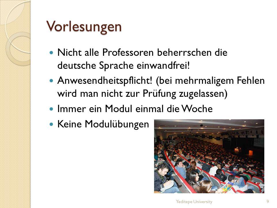 Vorlesungen Nicht alle Professoren beherrschen die deutsche Sprache einwandfrei!