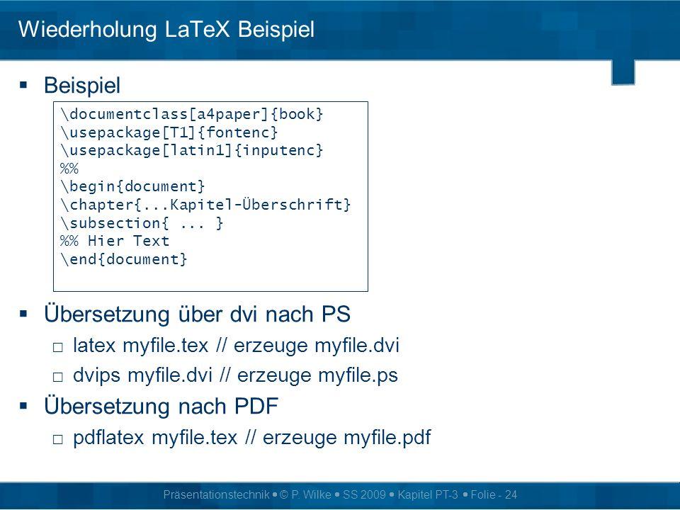 Wiederholung LaTeX Beispiel