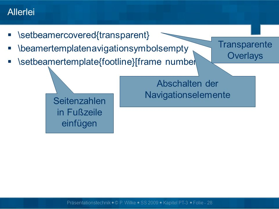 \setbeamercovered{transparent} \beamertemplatenavigationsymbolsempty