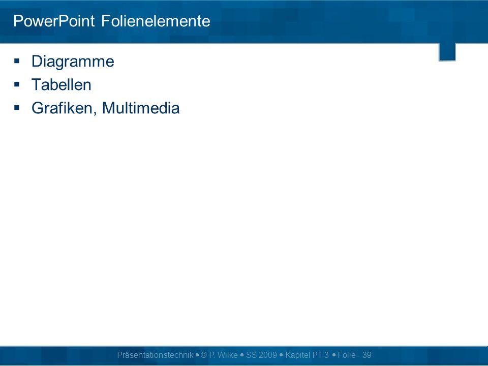 PowerPoint Folienelemente
