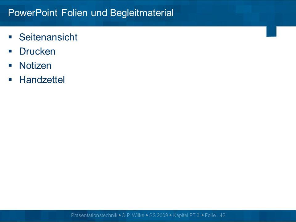 PowerPoint Folien und Begleitmaterial