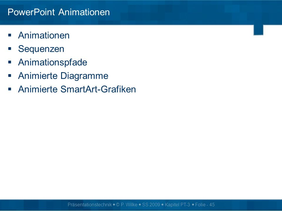 PowerPoint Animationen